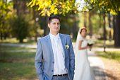 wedding, happy couple