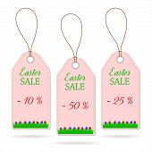 Set of three Easter price stickers