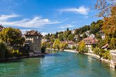 Berne Old Town And The Aare River