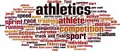 Постер, плакат: Athletics Word Cloud