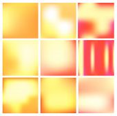 Vector gradient backgrounds in gold and red colors