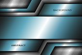 Abstract Metal Background With Turquoise Elements.vector Eps 10