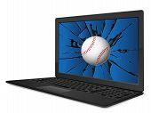 Cracked Laptop Baseball
