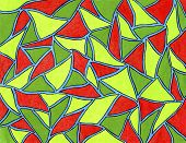 Colored polygons.