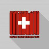 picture of confederation  - Swiss Confederation flag of the letters typography t - JPG