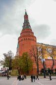 View In Kremlin Castle In Moscow