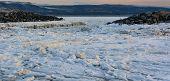 Ice Floes Between Rocks