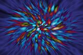 Colorful Vortex Blurred Background