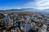 Nha Trang City Panorama With Mountains Vietnam