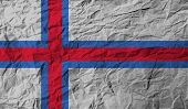 pic of faroe islands  - Flag of Faroe Islands with old texture - JPG