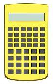 Golden Scientific Calculator Isolated