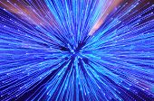 Blue streaks of Light