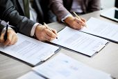 people in the job interview signed an employment contract