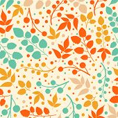Colored pattern on leaves theme. Autumn pattern with leaves.Can be used for wallpaper, pattern fills