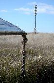 Weathered Rope And Tsunami Warning Tower