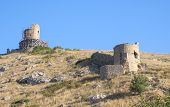 Ruins Of Ancient Fortress Wall