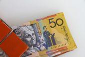 Australian Dollars in a Clip