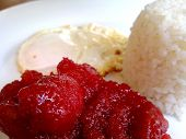 Tocino with egg and rice