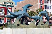 Dolphin fountain, Almeria.