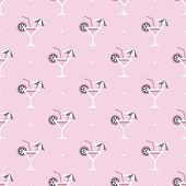 cocktail glass and drink pattern