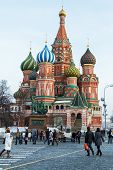 St. Basil's Cathedral On Red Square In Moscow.