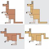 symbol icon rectangle animal kangaroo