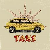 picture of silkscreening  - Taxi - JPG