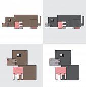 symbol icon rectangle animal mole