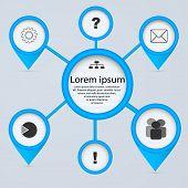 Network 3D Circles. Business Concept, Infographics