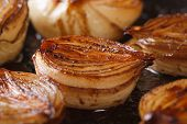 ?aramelized Onion Halves With Balsamic Vinegar In A Pan Macro