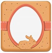 Easter bunny and egg shape cookie