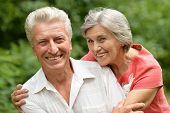 happy elder couple