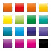 Set Of Color Buttons, Vector Illustration