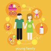 Lovely young family concept