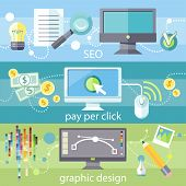 SEO, pay per click and graphic design