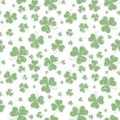 Seamless Pattern With Saint Patricks Day Shamrock Leaves