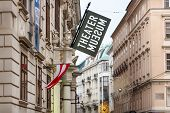 Advertising Of Theater Museum In Vienna