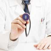 Doctor Holding Stethoscope With Flag Series - Guam