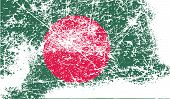 picture of bangladesh  - Flag of Bangladesh with old texture - JPG