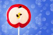 Lollipop In The Form Of An Apple