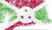 picture of burundi  - Flag of Burundi with old texture - JPG