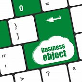 Business Object - Social Concepts On Computer Keyboard, Business Concept