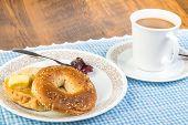 Breakfast Bagel And Coffee