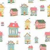 vector Cute cartoon houses