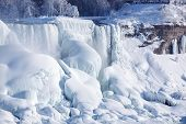 Ice Build-up Of Niagara Falls, Winter Of 2015