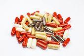Stack alternative medical capsules