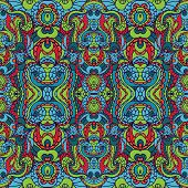 image of symmetry  - Abstract vector tribal ethnic background  - JPG