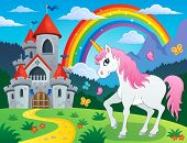 picture of unicorn  - Fairy tale unicorn theme image 4  - JPG