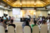 image of training room  - blur workshop in auditoriem room at training camp - JPG