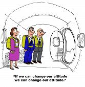 foto of change management  - Business cartoon depicting attitude change - JPG